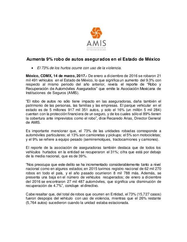 c4f7ea4d0 Aumenta 9% robo de autos asegurados en el Estado de México  El 73% ...