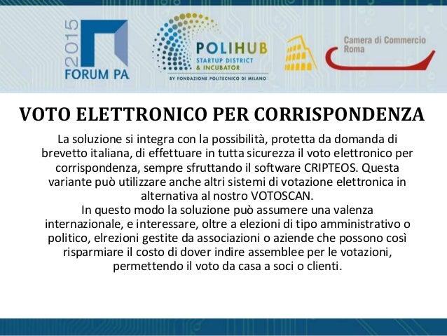 La soluzione si integra con la possibilità, protetta da domanda di brevetto italiana, di effettuare in tutta sicurezza il ...
