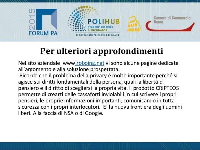 Per ulteriori approfondimenti Nel sito aziendale www.roboing.net vi sono alcune pagine dedicate all'argomento e alla soluz...