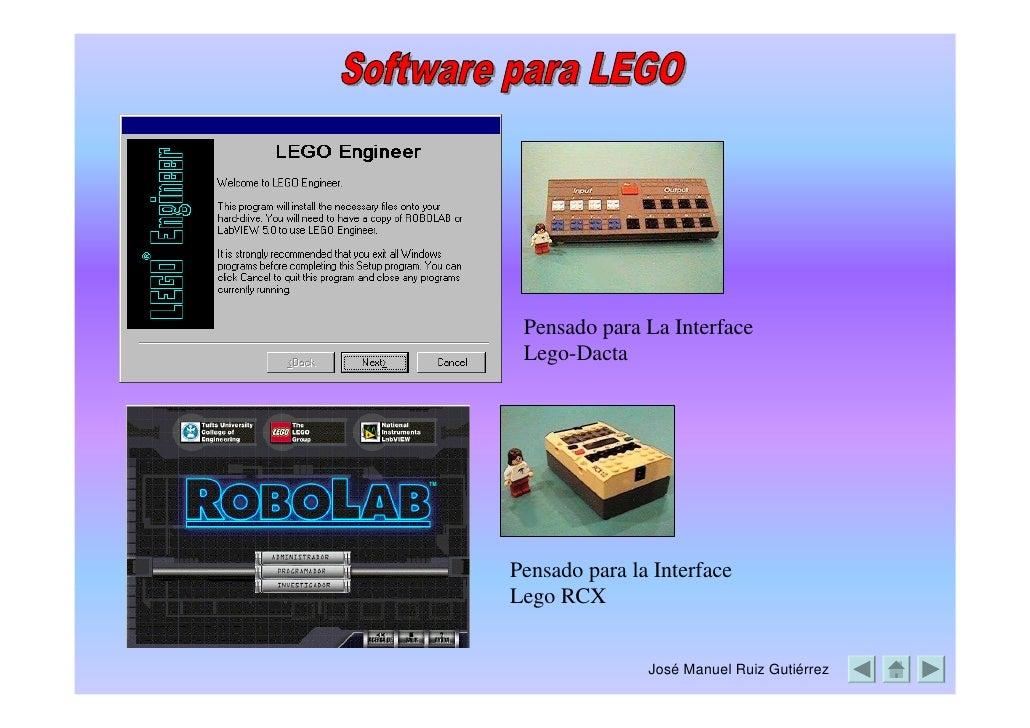 Pensado para La Interface  Lego-Dacta     Pensado para la Interface Lego RCX                  José Manuel Ruiz Gutiérrez