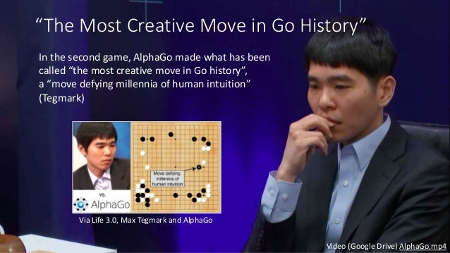 """""""I thought AlphaGo was based on probability calculation and that it was merely a machine. But when I saw this move I chang..."""