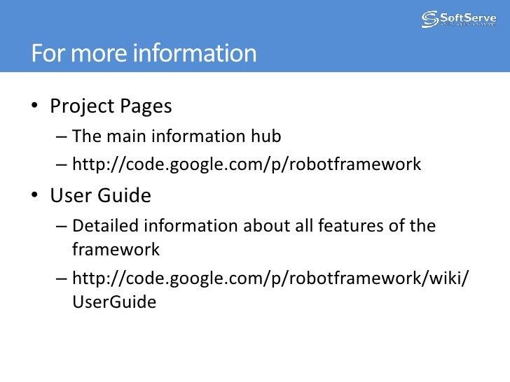 RIDE Robot Framework IDE<br />
