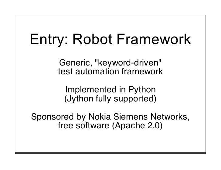 Robot Framework – ATDD for ambitious, heterogenous environments