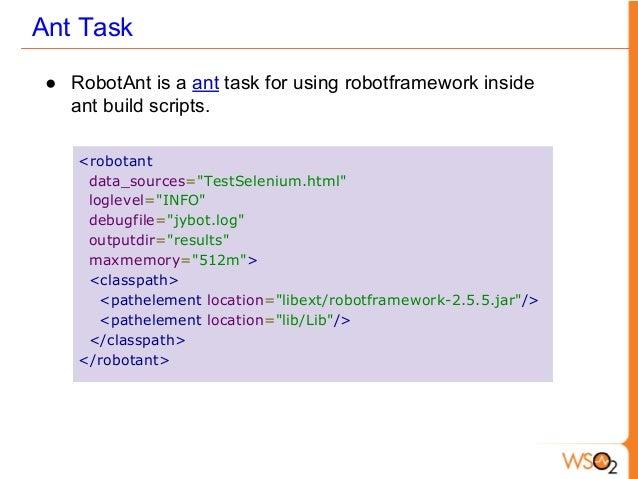 Robot framework and selenium2 library