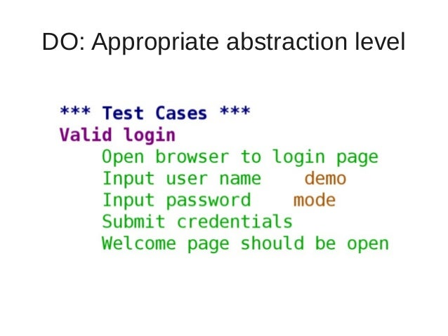 DO: Appropriate abstraction level