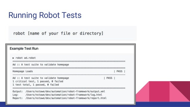 Robot framework short talk