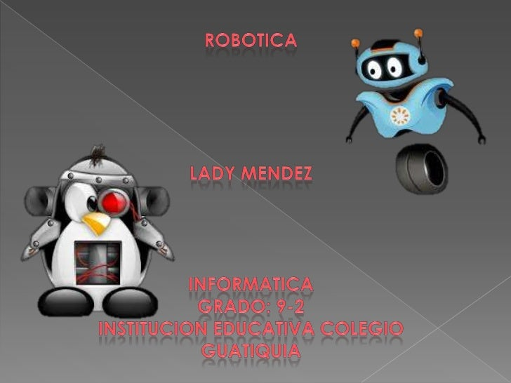    La robótica es la rama de la tecnología diferenciada de    la telecomunicación (cuya función es cubrir todas las    fo...