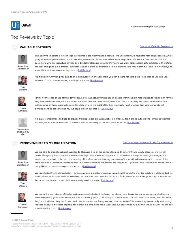 Rpa Vendors Report Itcentralstation May 2019