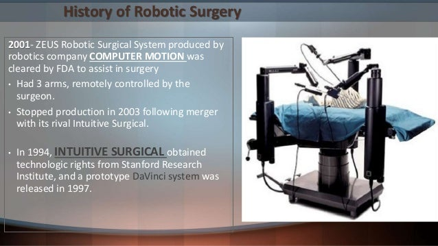 Robotic Surgery- Anaesthesia Considerations
