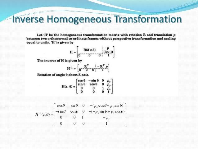 robotics-17-638 Homogeneous Transformation Matrix Example on perspective projection matrix, project matrix, rotation matrix, dependency matrix, alternative investment matrix,