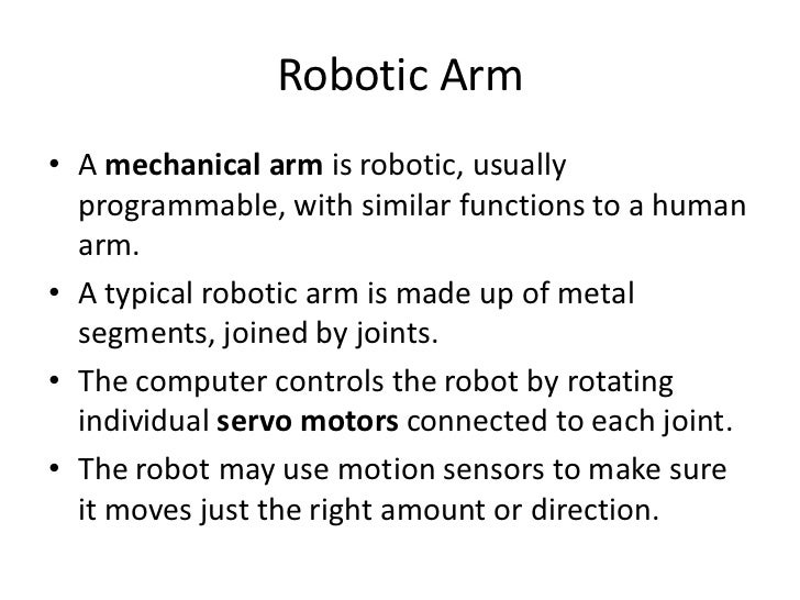 Artificial Intelligence Robotics Arm Robotics Eye