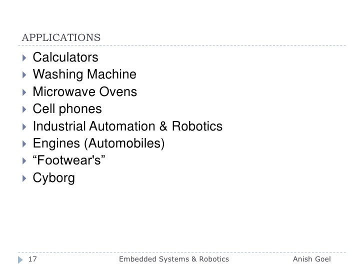 APPLICATIONS<br />Calculators<br />Washing Machine <br />Microwave Ovens<br />Cell phones <br />Industrial Automation & Ro...
