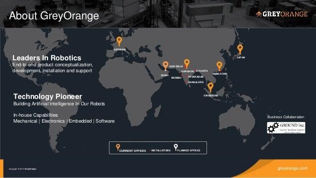 Robotics enabled next gen retail supply chain, grey orange Slide 3