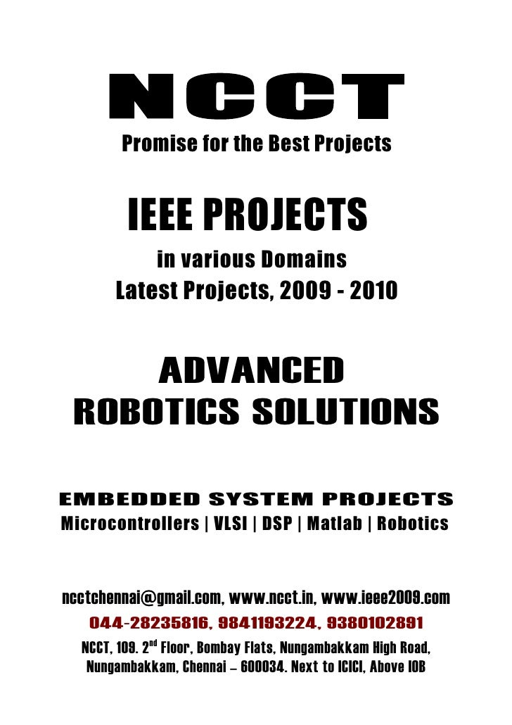NCCT         Promise for the Best Projects            IEEE PROJECTS            in various Domains        Latest Projects, ...