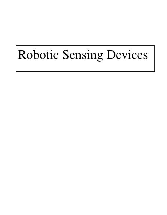 Robotic Sensing Devices