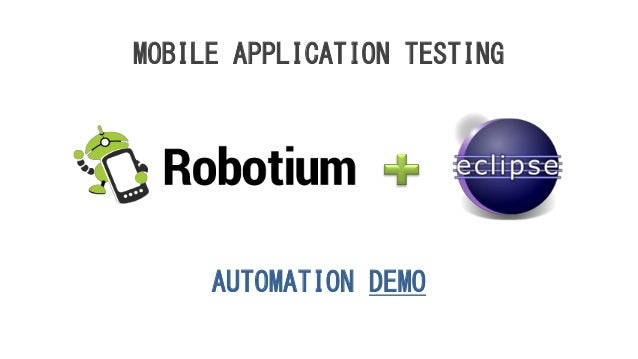 AUTOMATION DEMO MOBILE APPLICATION TESTING