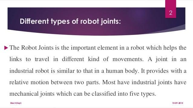 Robot Joints Pdf