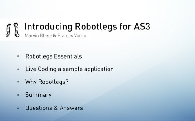 Robotlegs Webinar at HFUG