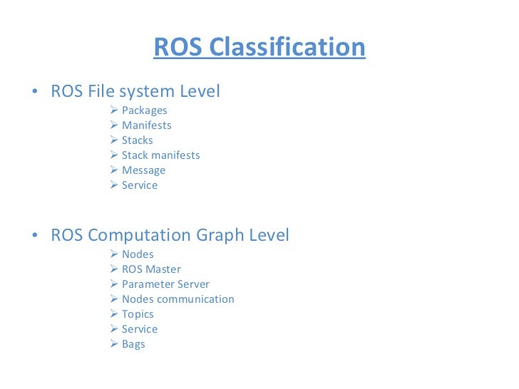 Article about Robot Operating System (ROS)