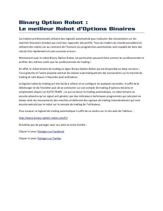 Option et option binaire trading