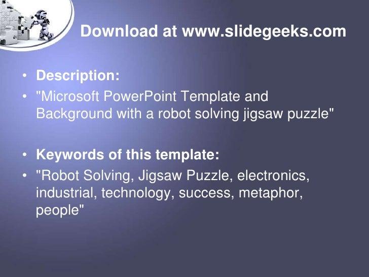 Robot ppt templates download toneelgroepblik Image collections