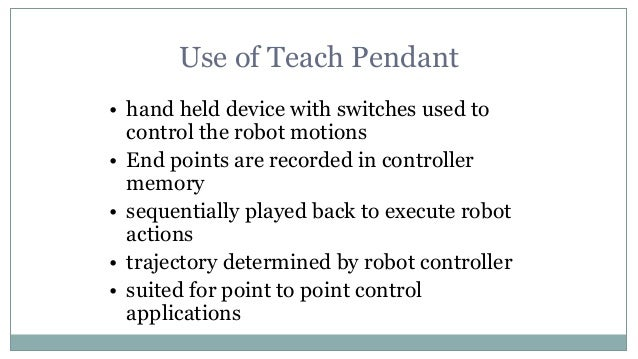 Robot programming 8 use of teach pendant aloadofball Image collections