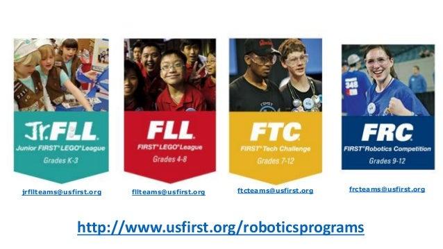 http://www.usfirst.org/roboticsprograms jrfllteams@usfirst.org fllteams@usfirst.org ftcteams@usfirst.org frcteams@usfirst....