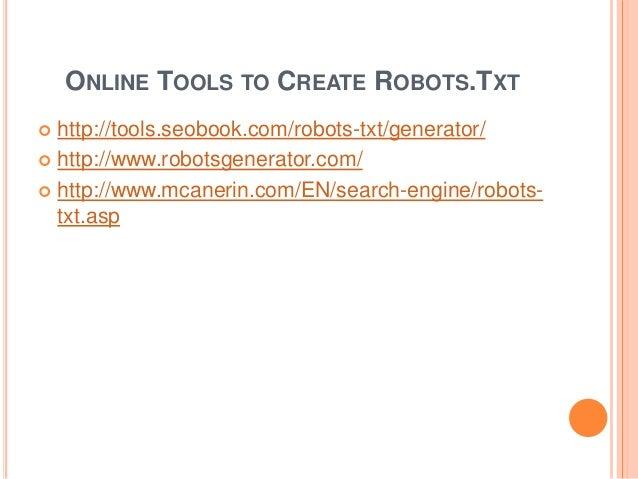 robots txt and sitemap xml creation
