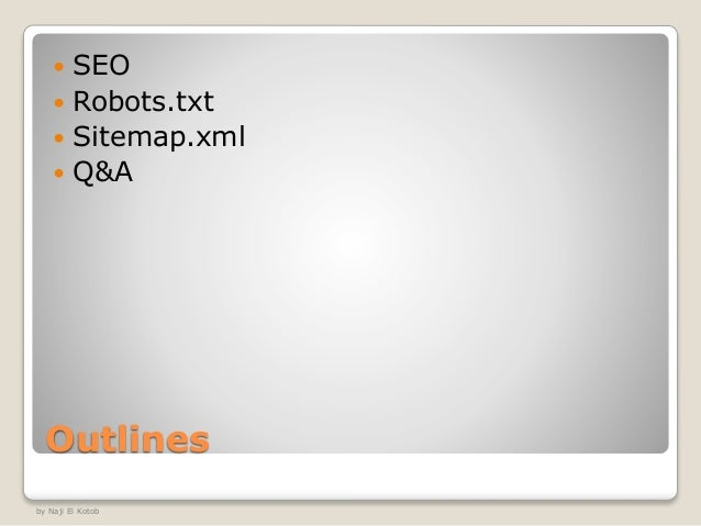 robots and sitemap version 1 0 1