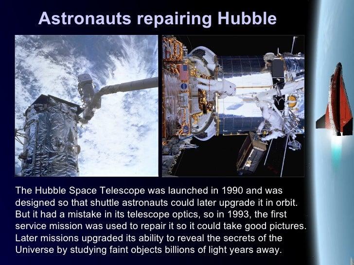 Astronauts repairing Hubble The Hubble