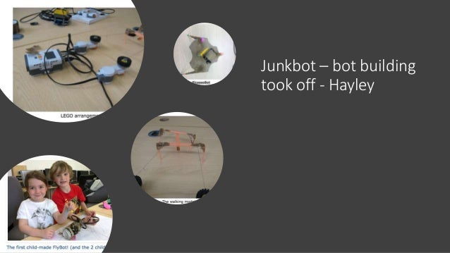 Junkbot building – bot and programming starts to come together – Hayden Tetley