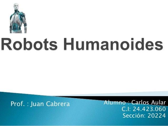 Prof. : Juan Cabrera Alumno : Carlos Aular  C.I: 24.423.060  Sección: 20224