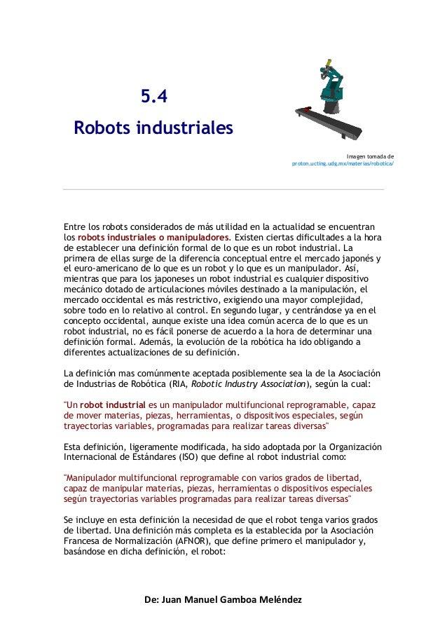 5.4  Robots industriales                                                                             Imagen tomada de     ...