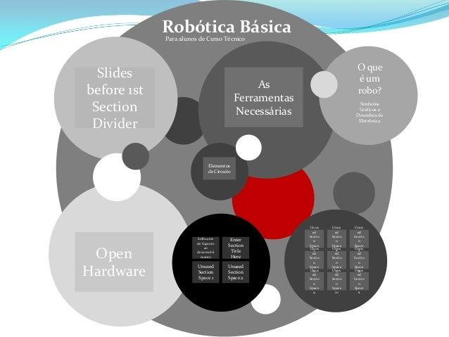 Robótica BásicaPara alunos de Curso Técnico Slides before 1st Section Divider Open Hardware As Ferramentas Necessárias Ele...