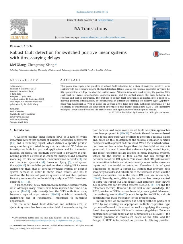 Robust fault detection for switched positive linear systems with time varying delays