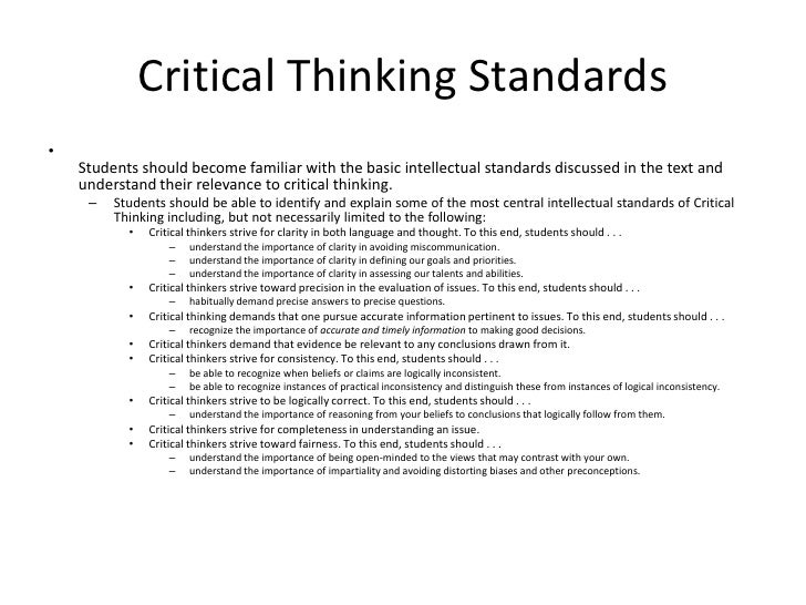 critical thinking week overview critical thinking