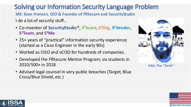 WANTED – People Committed to Solving our Information Security Language Problem Slide 3