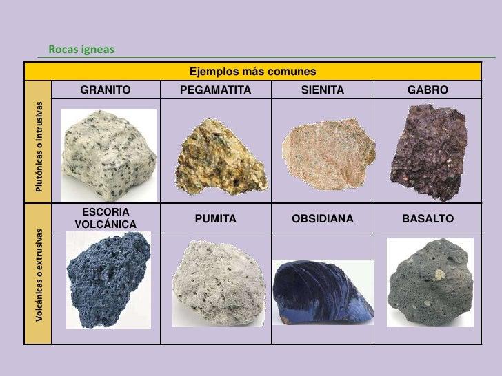 Rocas for Nombre de la roca
