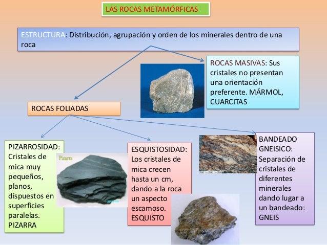 Rocas metamorficas for Marmol veteado sinonimo