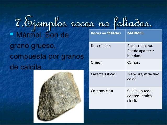 Rocas metamorficas expo maya for Marmol clasificacion