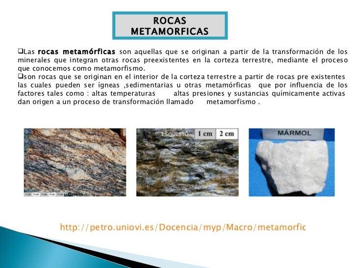 Rocas metamorficas for Marmol caracteristicas y usos