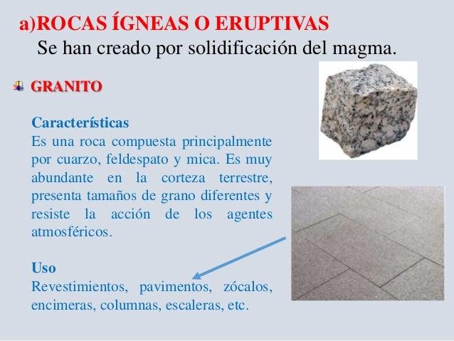 Rocas origen y propiedades unach for Granito caracteristicas
