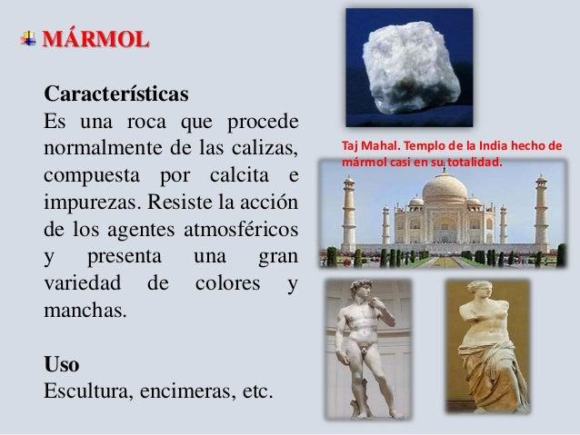 Rocas origen y propiedades unach for El significado de marmol