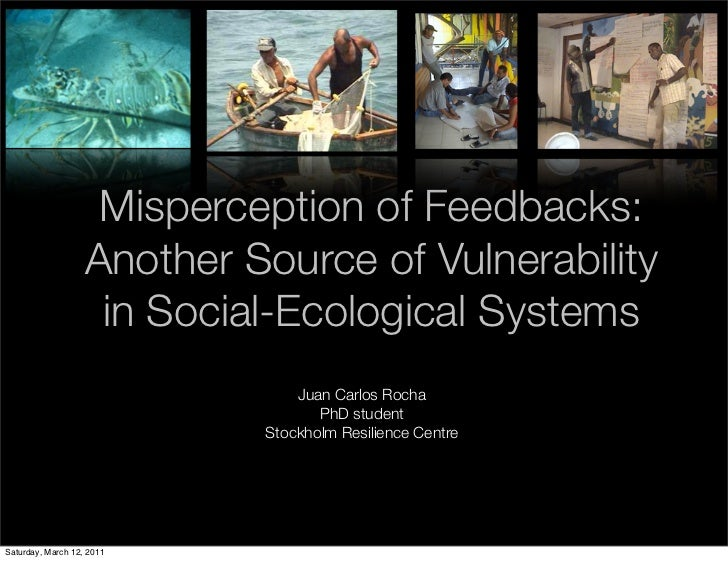 Misperception of Feedbacks:                   Another Source of Vulnerability                    in Social-Ecological Syst...