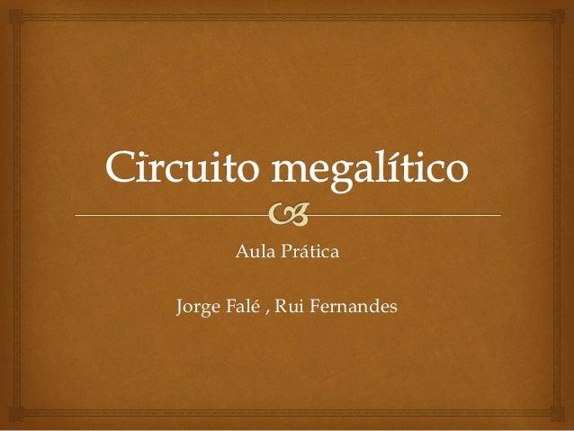 Aula Prática Jorge Falé , Rui Fernandes -