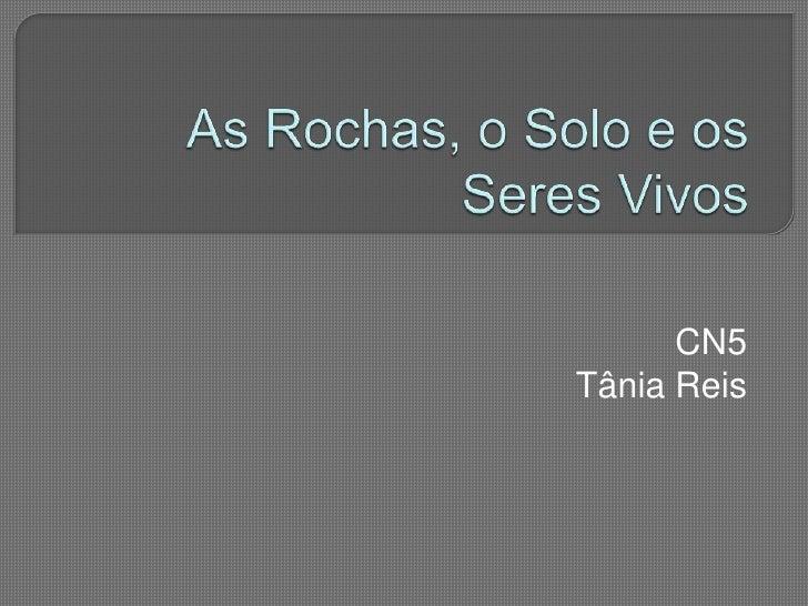 As Rochas, o Solo e os Seres Vivos<br />CN5<br />Tânia Reis<br />