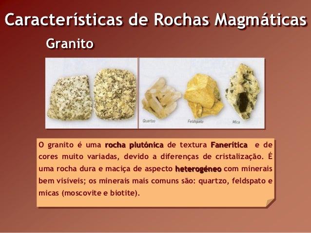 Rochas magm ticas for Granito caracteristicas