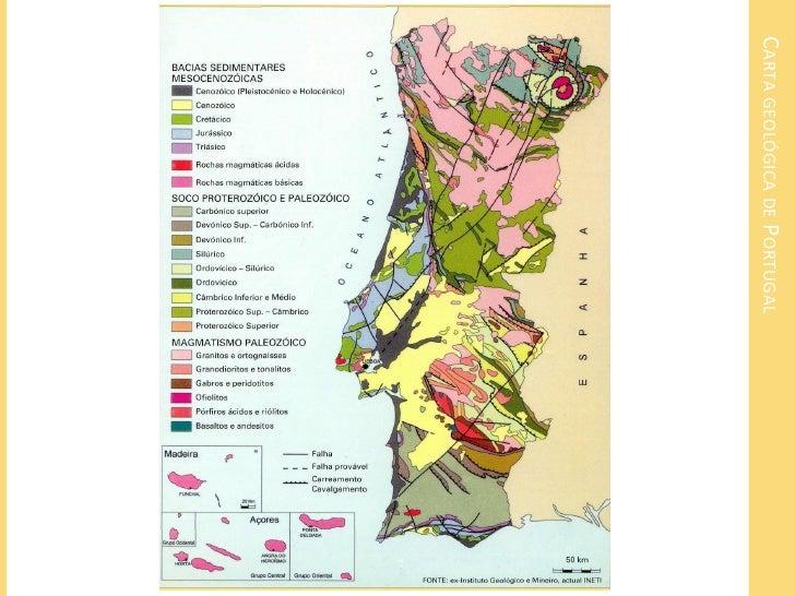 mapa das rochas em portugal Rochas sedimentares mapa das rochas em portugal