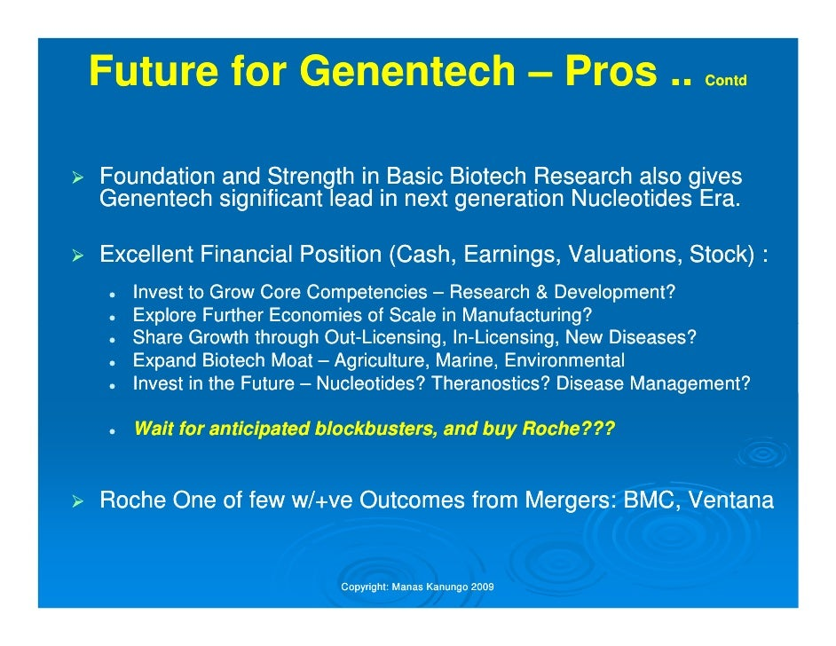 Three Years After Merger, Genentech R&D Outshines That of Roche's