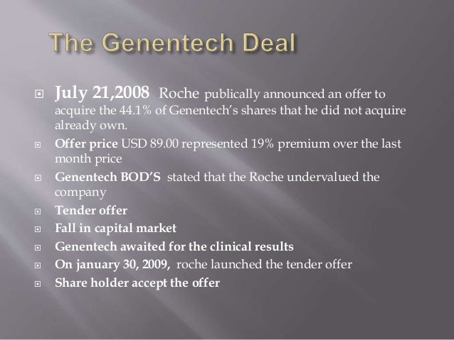 Genentech: After the Acquisition by Roche